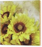 Serenity Sunflowers Wood Print