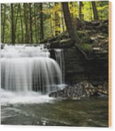 Serenity Waterfalls Landscape Wood Print