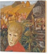 Sergei Esenin 1895-1925 As A Youth, Boris Grigoriev Wood Print