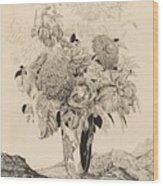 Sergey Vasilievich Chekhonin Russian 1878-1936 Flower Bouquet, 1935 Wood Print