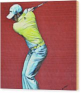Sergio Garcia By Mark Robinson Wood Print