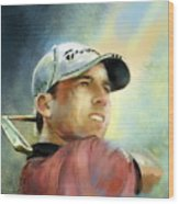 Sergio Garcia In The Castello Masters Wood Print