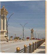 Seri Gemilang Bridge In Putrajaya Wood Print