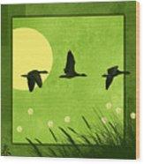 Series Four Seasons 1 Spring Wood Print