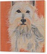 Serious Westie Wood Print