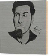 Serj Tankian Wood Print