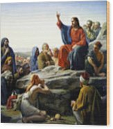 Sermon On The Mount Wood Print