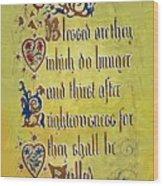 Sermon8 Wood Print