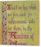 Sermon9 Wood Print