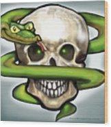 Serpent N Skull Wood Print