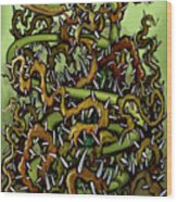 Serpent N Thorns Wood Print