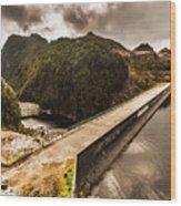 Serpentine River Crossing Wood Print