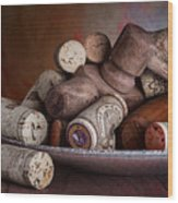 Served - Wine Taps And Corks Wood Print