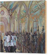 Service In San Fernando Cathedral Wood Print