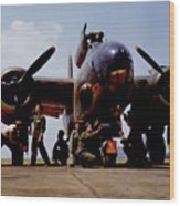 Servicing An A-20 Bomber Langley Field Va Wood Print