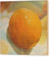 Serviette orange Wood Print