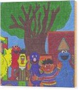 Children's Characters Wood Print