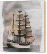Set Sail Wood Print by Aaron Berg