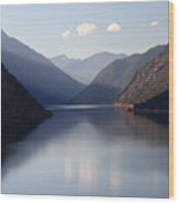 Seton Lake Reflection Wood Print