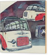 Setra Bus Kassbohrer S11 Wood Print