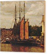 Setting Sail From Bristol Wood Print