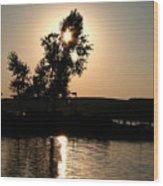 Setting Sun At Cypress Hills Wood Print