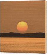 Setting Sun On Coastal Florida Wood Print
