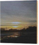 Kankakee Sunset  Wood Print