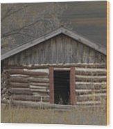 Settler Cabin Wood Print