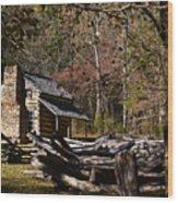 Settlers Cabin Wood Print