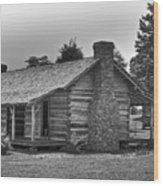 Settlers Cabin Tennessee Wood Print