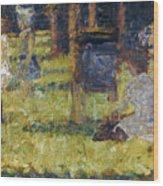 Seurat: Grande Jatte, 1884 Wood Print by Granger