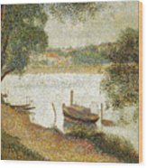 Seurat: Gray Weather Wood Print by Granger