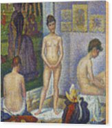 Seurat: Models, C1866 Wood Print by Granger