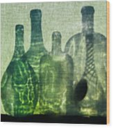 Seven Bottles Wood Print