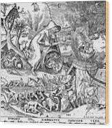 Seven Deadly Sins: Anger Wood Print