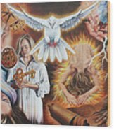 Seven-fold Spirit Of The Lord Wood Print