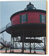 Seven-foot Knoll Lighthouse Wood Print