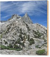 Seven Gables Over Seven Gables Lakes - Sierra Wood Print