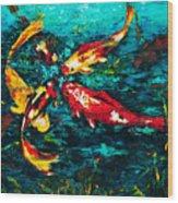 Seven Koi Wood Print