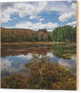 Seven Lakes Autumn Reflections Wood Print