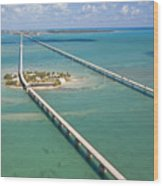Seven Mile Bridge Crossing Pigeon Key Wood Print