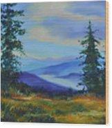 Seven Mile Saddle Wood Print