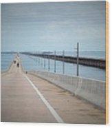 Seven Miles Of Bridge Wood Print