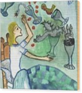Seven Of Cups And Strange Dreams Wood Print