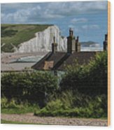 Seven Sisters Cottage Wood Print