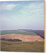 Seven Sisters Country Park Wood Print