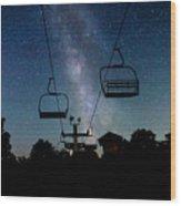 Seven Springs Milky Way Wood Print by Brenda Schwartz