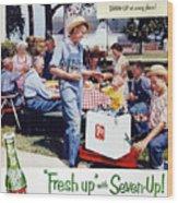 Seven-up Soda Ad, 1954 Wood Print