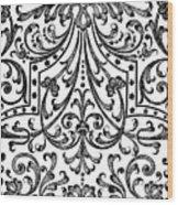 Seventeenth Century Parterre Pattern Design Wood Print